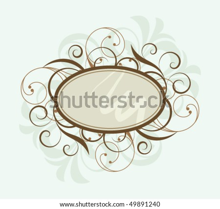 Banner with design elements on a white light background - stock vector