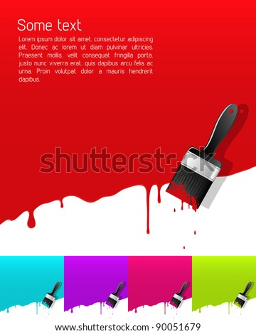 Banner with dripping paint. Vector illustration. - stock vector