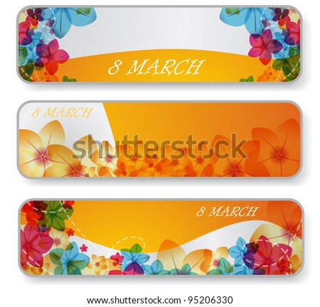 Banners for 8 march - stock vector