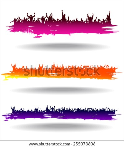 Banners for sports events and concerts. - stock vector