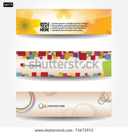 Banners for web - vector - stock vector