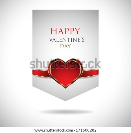 Banners. Happy Valentine's Day. Clip-art - stock vector