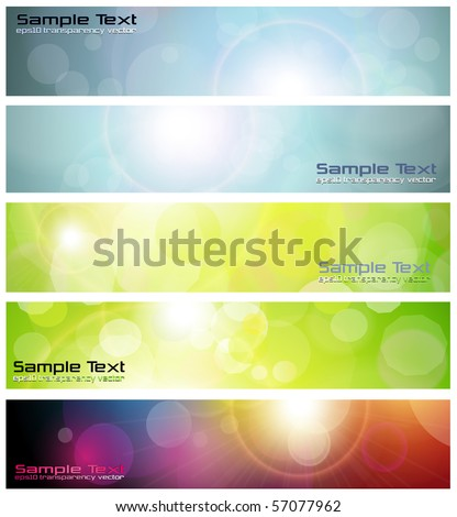 Banners, headers abstract lights, vector. - stock vector
