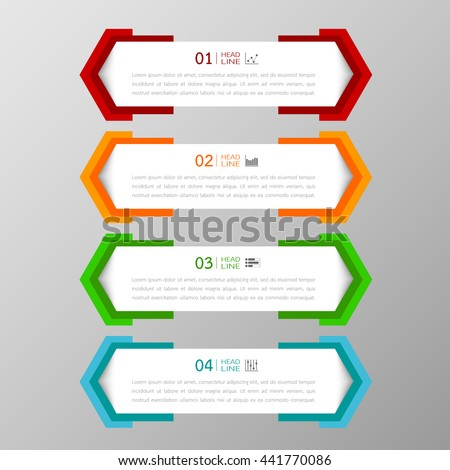 Banners template colorful tabs design Illustration vector business card and text box  infographics for web presentation layout - stock vector