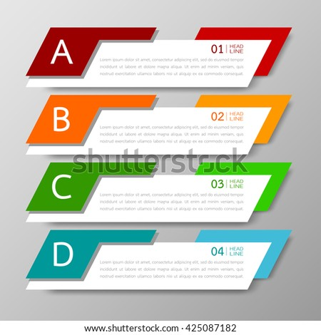 Vector illustration abstract images infographics stock - Text banner design ...