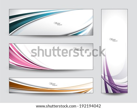 Banners. Vector Backgrounds. - stock vector