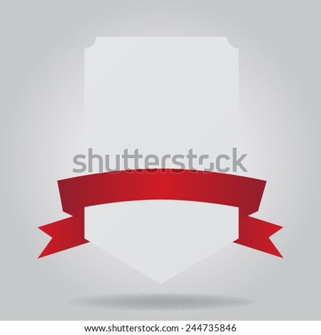Banners with ribbon - stock vector