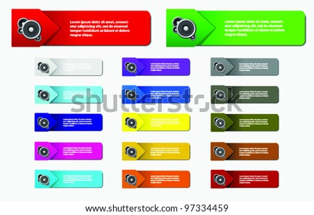 Banners With Various Colors - stock vector