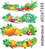 banners with vegetables - stock photo