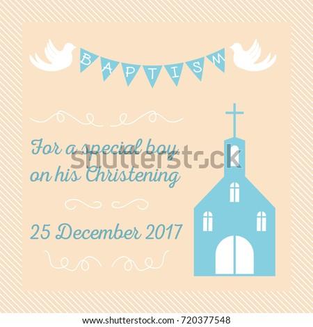 baptism invitation card template