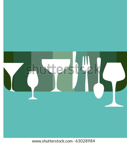 bar and restaurant menu design template - stock vector