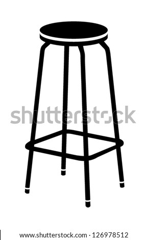 bar chair vector illustration