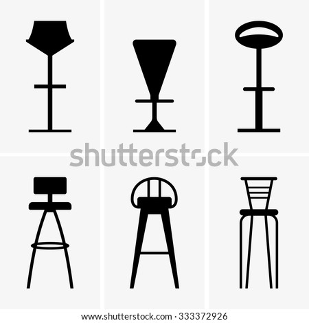 Bar chairs - stock vector