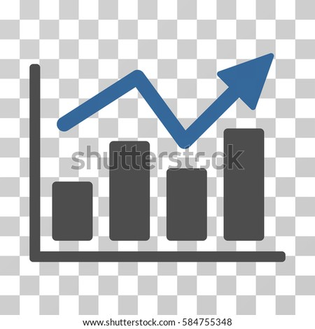 Bar chart trend icon vector illustration stock vector royalty free bar chart trend icon vector illustration style is flat iconic bicolor symbol cobalt and ccuart Images
