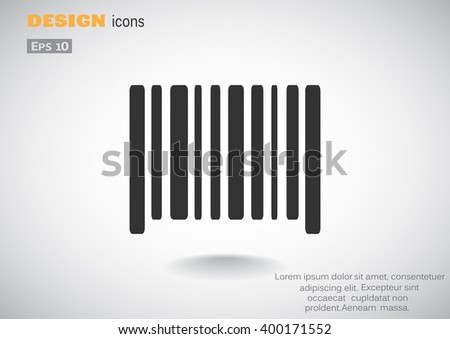 Bar code icon - stock vector