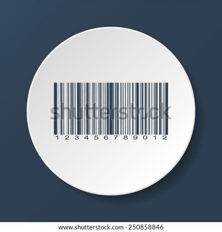 Bar-code icon, vector illustration. Flat vector illustrator Eps - stock vector