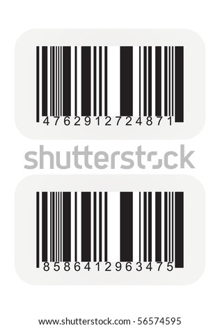 Bar code labels - stock vector