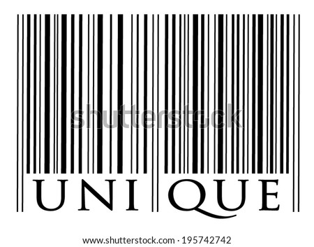 Bar code, symbol for unique. vector art image illustration, isolated on white background - stock vector