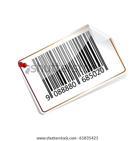 Bar code tag - stock vector