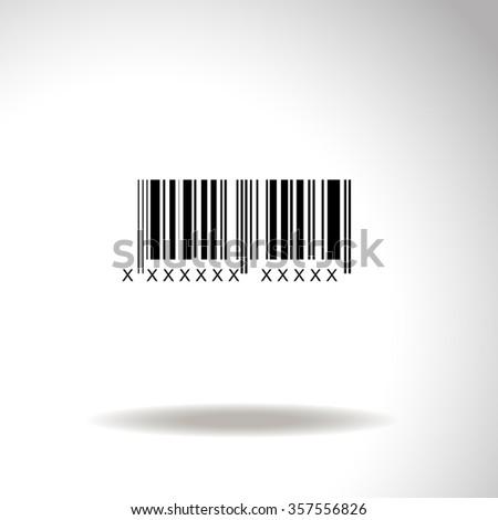 Bar code vector icon - stock vector