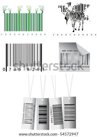 bar codes - stock vector