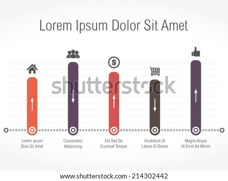 Bar graph template, vector eps10 illustration - stock vector
