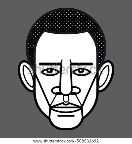 Barack Obama portrait. President of the USA. Vector illustration.