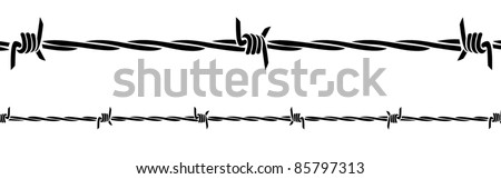 barb wire - stock vector