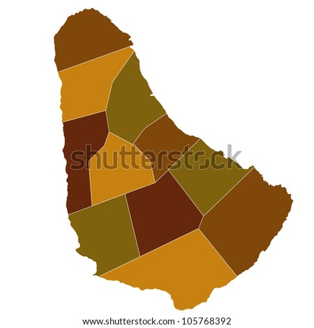 Barbados - stock vector