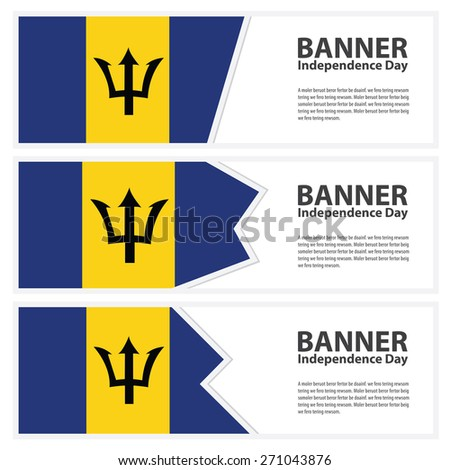 barbados  Flag banners collection independence day - stock vector