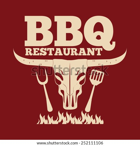 barbecue restaurant design, vector illustration eps10 graphic  - stock vector