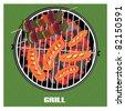 Barbecue, vector illustration - stock vector