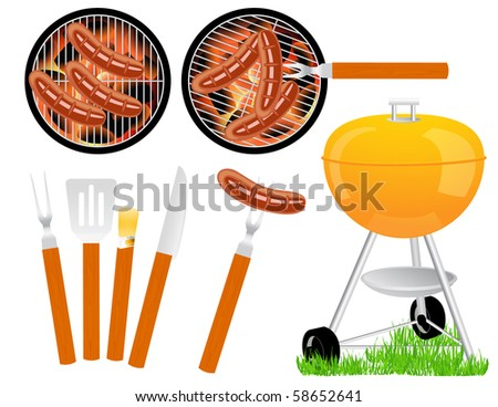 Barbecue, vector illustration - stock vector