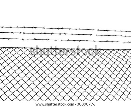 Barbed wire, vector