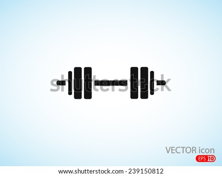 barbell  icon - stock vector