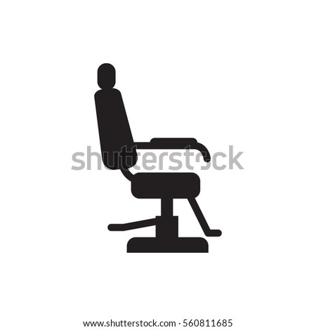 Barber Chair Icon Illustration Isolated Vector Sign Symbol