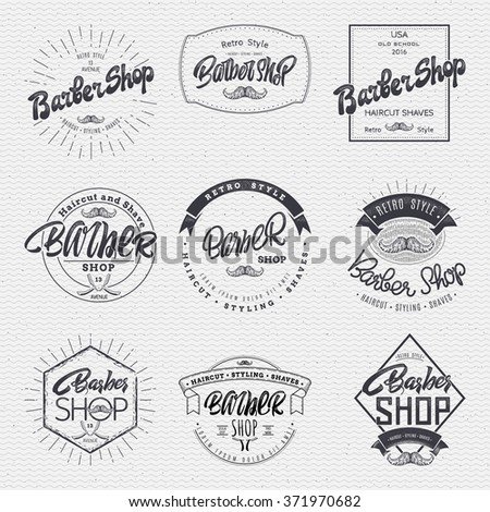 Barber label sticker badge hand-lettering, can be used to design signage brochures presentations