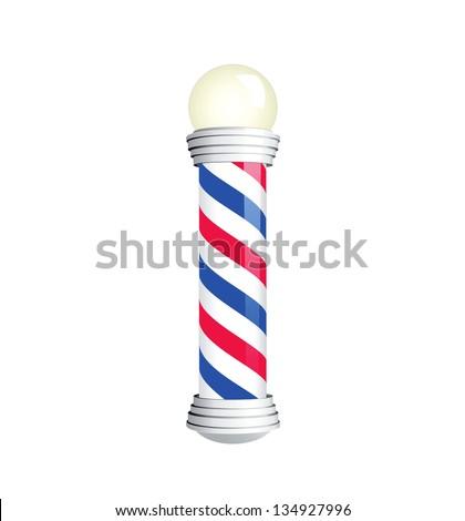 Barber Pole. Vector illustration - stock vector