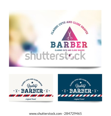 Barber shop business card template stock vector 2018 284729465 barber shop business card template wajeb Choice Image
