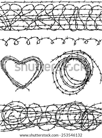 barbwire - stock vector