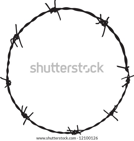 Barbwire frame 6 - stock vector