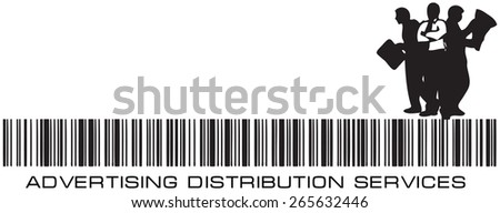 Barcode Agency - Advertising Distribution Services. Vector illustration. - stock vector