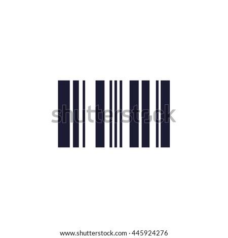 barcode icon - stock vector