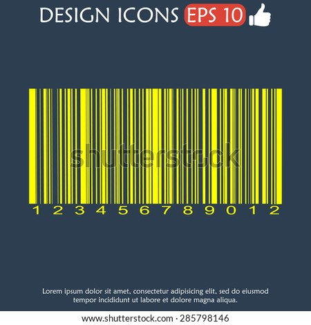Barcode icon, vector illustration. Flat vector illustrator Eps - stock vector