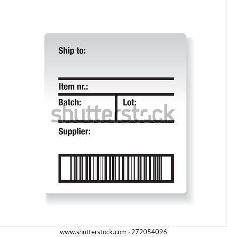 Barcode label shipping vector - stock vector