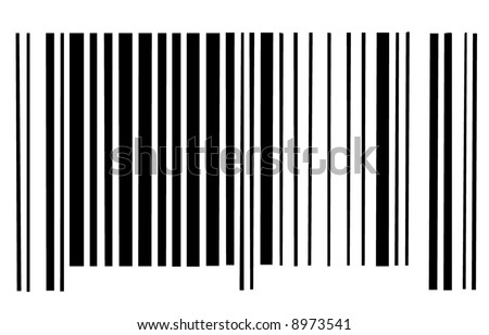barcode scan code on white background - vector - stock vector