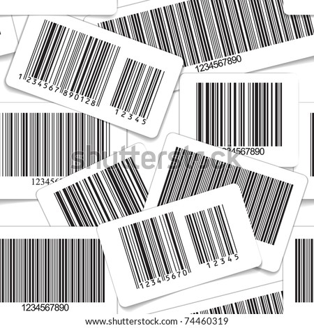 Barcodes monochrome collection seamless background - stock vector