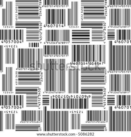 Barcodes. Seamless vector wallpaper - stock vector