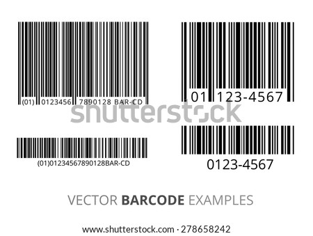Barcodes vector set - stock vector