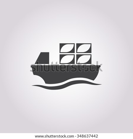 Barge icon. - stock vector